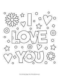 Coloring books for boys and girls of all ages. I Love You Coloring Page Free Printable Pdf From Primarygames