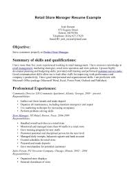 cv store manager Pic Retail Manager Cv Template Example 1 2 Page Retail Department ... resume retail