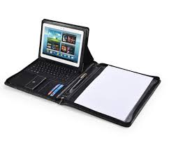 For Android Tablet Deluxe Leather Samsung Galaxy Case with Keyboard Portfolio