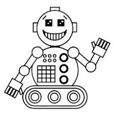 Small Picture Robot Coloring Page and Word Tracing Robot Child and School