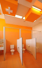 elementary school bathroom design. Simple Design Cool Design Kindergarten Bathroom In Poland In Elementary School E