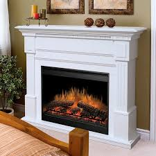 white electric fireplace with mantel home depot electric fireplaces