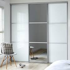 stunning sliding door wardrobe classic 2 soft white 1 mirror gjuchnl