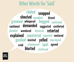 Dialogue Words Other Words For Said Now Novel
