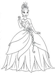 princess and the frog coloring pages lovely princess tiana printable coloring pages princess printable