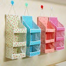 New Cute Linen Storage Bag <b>Organizer Wall Hanging</b> Pockets ...