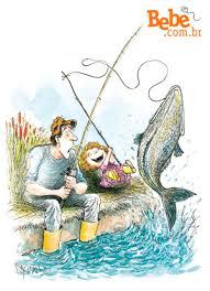 Resultado de imagem para pai e filhos pescando