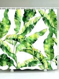 green leaf shower curtain green leaf shower curtain waterproof fabric banana leaf shower curtain green inch