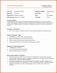 Substitute Teacher Resume Sample Functional Resume Examples Awesome Substitute Teacher Resume Sample 9
