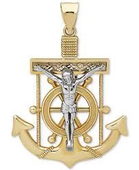 macy s women s metallic men s mariner cross pendant