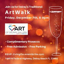 december artwalk at the heart of delray gallery
