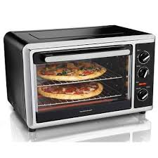 hamilton beach large kitchen countertop oven with convection rotisserie black