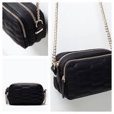 Zara - Zara quilted crossbody bag with chain black gold from 🚫no ... & Zara quilted crossbody bag with chain black gold Adamdwight.com