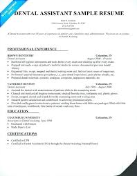 Dental Assistant Resume Template Amazing Dental Assistant Resume Template Word Pingfinco