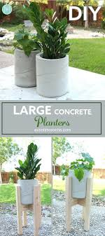 concrete planter box round diy large planters o sign flower wood outdoor