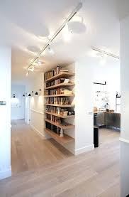 cool track lighting. Cool Track Lighting Home Decor And Functional Modern Hallway A Bookshelf Accentuated