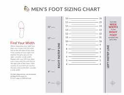shoe size chart width footcare men width chart