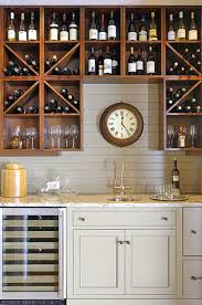 Wet Bar Ideas Grey Countertops And Grey Brick - Simple basement wet bar