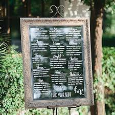 Mirror Wedding Seating Chart Amazon Com Mirror Seating Chart Customized And Hand