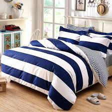 rugby stripe bedding blue striped bedding sets deep and white boys rugby stripe print simply chic
