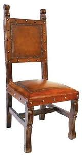 rustic spanish furniture. Impressive Rustic Leather Dining Chairs New World Trading Spanish Heritage Armless Chair Furniture