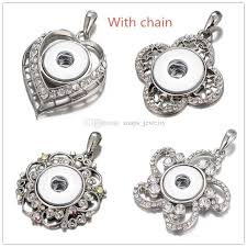 whole noosa chunks ginger snaps jewelry rhinestone love heart 18mm snap on pendant necklace with o link chain pendants and necklaces gold chains for
