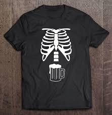 cute skeleton beer in belly xray meme