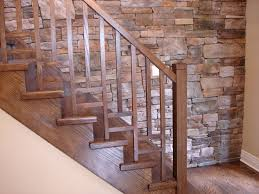 Decorations:Classic Spiral Wooden Steps Design With Black Wooden Railing  Also Carving Accents Traditional Wood