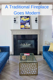 Going modern with a traditional fireplace | #modernlivingroom #livingroom  #livingroomideas #fireplace #