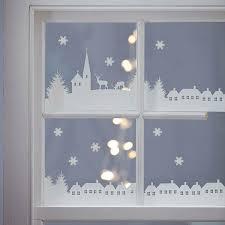 Fensterbilder Zu Weihnachten Dorf Aus Transparentpapier