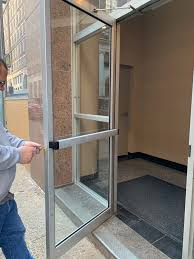 aluminum glass entry door repair
