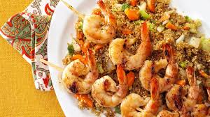 Shrimp Skewers with Asian Quinoa Recipe ...