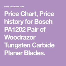 Price Chart Price History For Bosch Pa1202 Pair Of