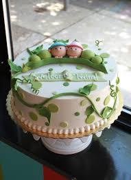 Peapod Baby Shower Cake | Whipped Bakeshop