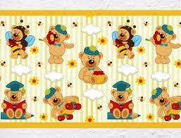 Teddy Bordüre Für Kinderzimmer I Love Wandtattoode