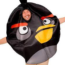 Amazon.com: Black Angry Birds Costume for Adults - Angry Bird Movie  Inspired Unisex Costume for Men Women and Couples: Clothing