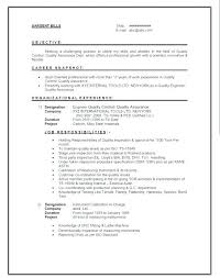 quality engineer resume format weathers mike 1 ...