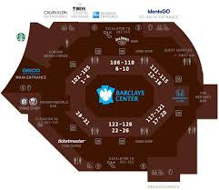Ticketmaster Seating Chart Barclays Center Concourse Map Barclays Center