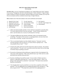 logical fallacies study guide