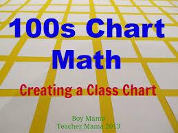 Teacher Mama 100s Chart Math Creating A Class Chart Boy