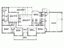 4 bedroom ranch house plans. Ranch Style House Plans Bedroom With Bats Open Floor Custom 4