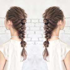 結婚式お呼ばれ髪型2018年自分でできるセルフヘアアレンジ画像 髪型