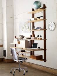 Office Room: Cool And Stylish Home Office With Wooden Closet - Clocks