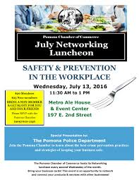 networking flyer luncheon flyer july 2016 pomona chamber of commerce