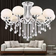 lightinthebox european mini style elegant luxury 9 light crystal chandelier modern ceiling light fixture for dining room bedro om living room
