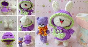 Cute Crochet Patterns Gorgeous A Bunny In A Cute Hood Free Crochet Pattern Home Design