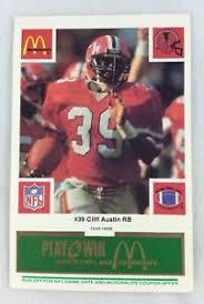 NFL 1986 McDonalds Atlanta Falcons Card-Cliff Austin (Clemson) | eBay