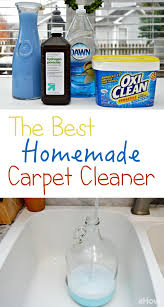 The BEST DIY carpet cleaner! Carpet cleaning solution can be expensive and  sometimes leaves an