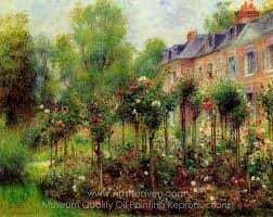 pierre auguste renoir the rose garden at wargemont oil painting reion