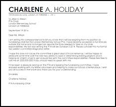 Formal Resignation Letter Example Committee Resignation Letter Example Letter Samples